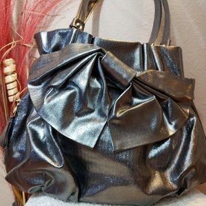 Elle dark silver purse